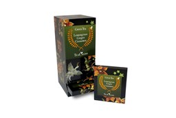 Afbeelding van Green Tea Lemongrass ginger cinnamon Fairtrade Single serve 12 x 1,8gr